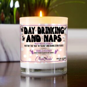 Day Drinking and Naps Table Candle