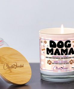 Dog Mama Funny Candle and Lid