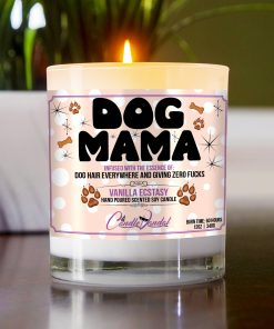 Dog Mama Funny Candle