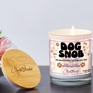 Dog Snob Funny Candle and Lid