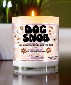 Dog Snob Funny Candle