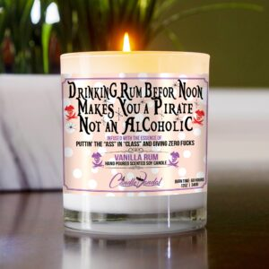 Drinking Rum Before Noon Makes You a Pirate Not an Alcoholic Table Candle