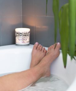 Drinks Well with Others Funny Bathtub Candle