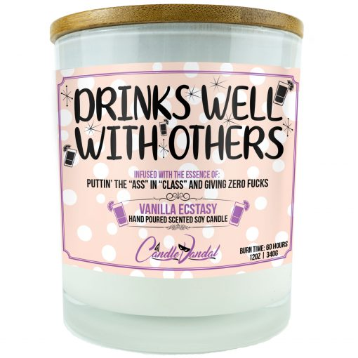 Drinks Well with Others Funny Candle