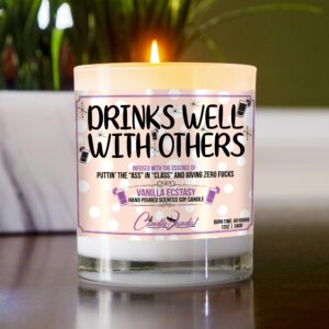 Drinks Well with Others Table Candle