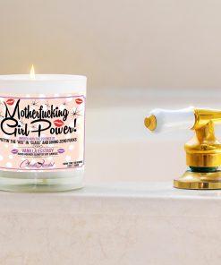 Motherfucking Girl Power Funny Bathtub Candle