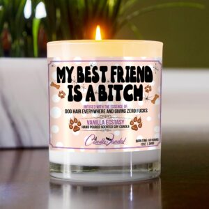 My Best Friend is a Bitch Funny Table Candle