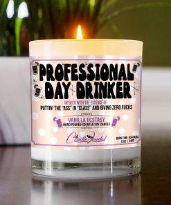Professional Day Drinker Funny Table Candle