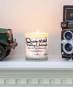 Queen of the Fucking Universe Funny Mantle Candle