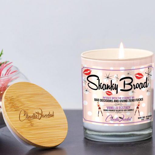 Skanky Broad Funny Candle and Lid