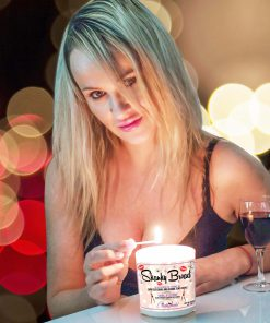 Skanky Broad Funny Candle and Wine