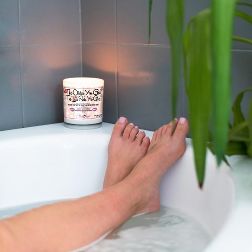 The Older You Get The Less Shits You Give Funny Bathtub Candle