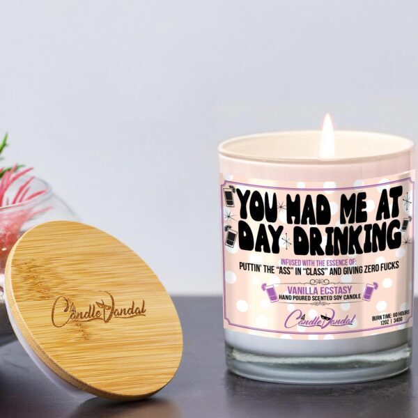You Had Me at Day Drinking Funny Candle and Lid