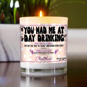 You Had Me at Day Drinking Funny Table Candle