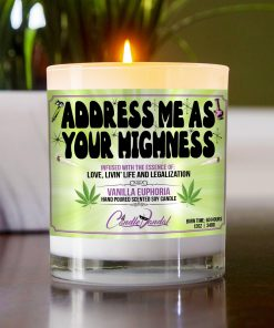 Address Me As Your Highness Table Candle