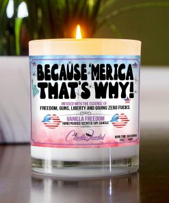 Because Merica That's Why Table Candle