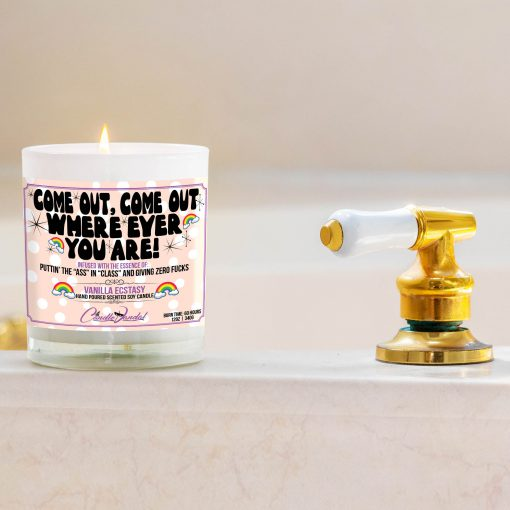 Come Out Come Out Where Ever You Out Bathtub Side Candle