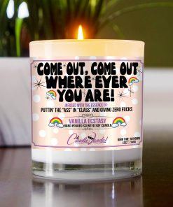 Come Out Come Out Where Ever You Out Table Candle