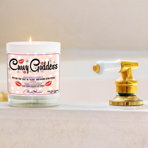 Curvy Goddess Bathtub Side Candle