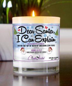 Dear Santa I Can Explain Table Candle