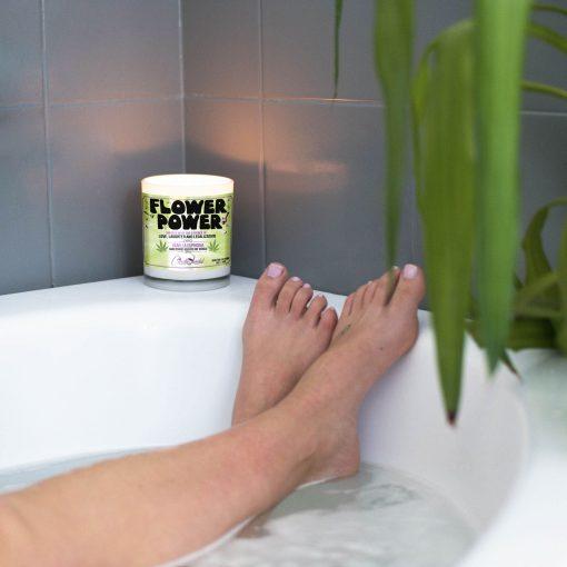 Flower Power Bathtub Candle