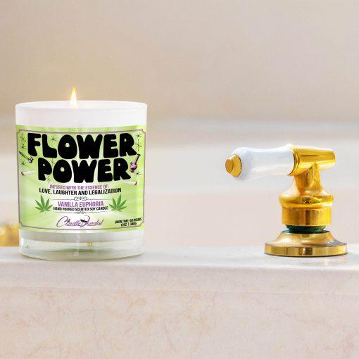 Flower Power Bathtub Side Candle