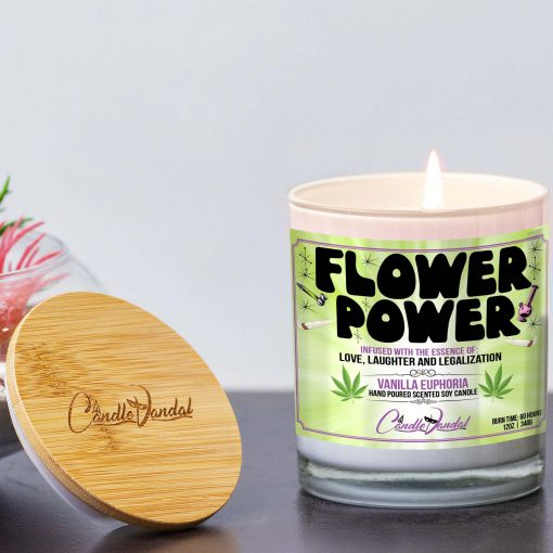 Flower Power Lid And Candle