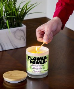 Flower Power Lighting Candle