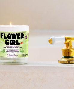 Fower Girl Bathtub Side Candle