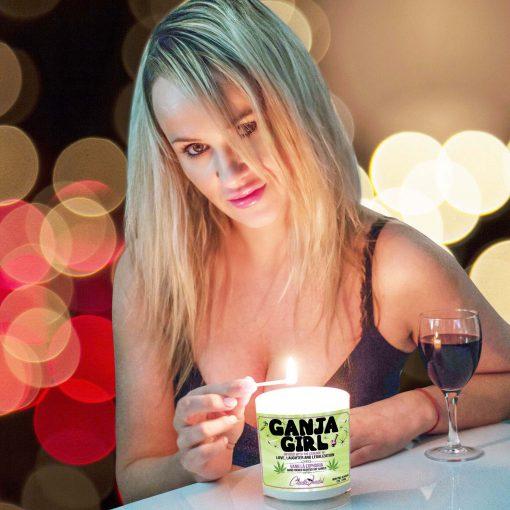 Ganja Girl Match Lighting Candle