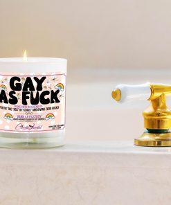 Gay as Fuck Bathtub Side Candle