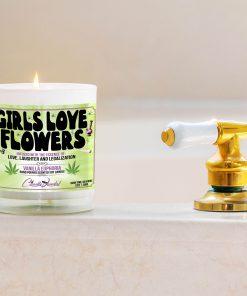Girls Love Flowers Bathtub Side Candle