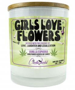 Girls Love Flowers Candle