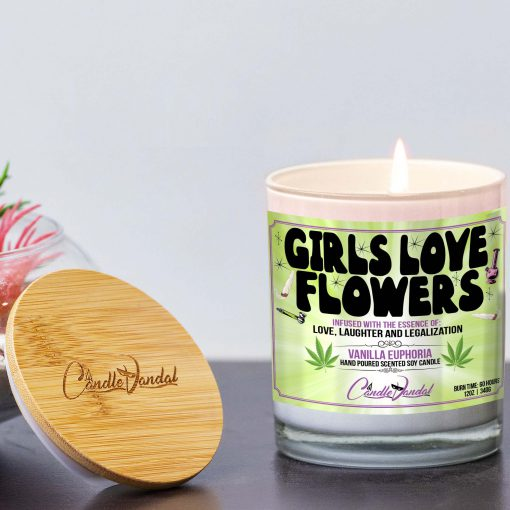 Girls Love Flowers Lid And Candle