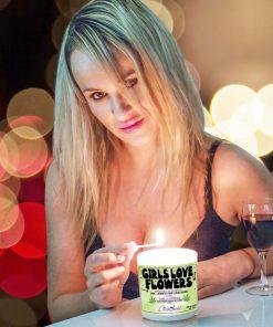 Girls Love Flowers Match Lighting Candle