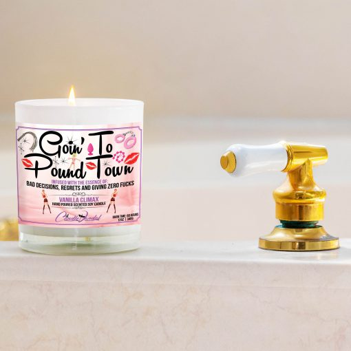Goin' to Pound town Bathtub Side Candle