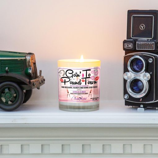 Goin' to Pound town Mantle Candle