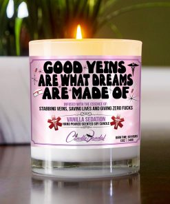 Good Veins Are What Dreams Are Made Of Table Candle
