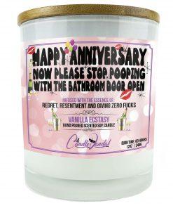 Happy Anniversary Now Please Stop Pooping With The Bathroom Door Open Candle