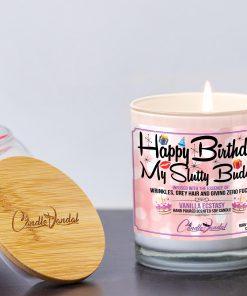 Happy Birthday My Slutty Buddy Lid and Candle
