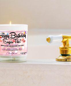 Happy Birthday Sugar Tits Bathtub Side Candle