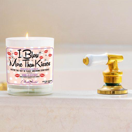 I Blow More Than Kisses Bathtub Side Candle