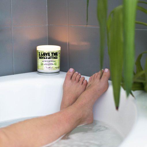 I Love The Devils Lettuce Bathtub Candle