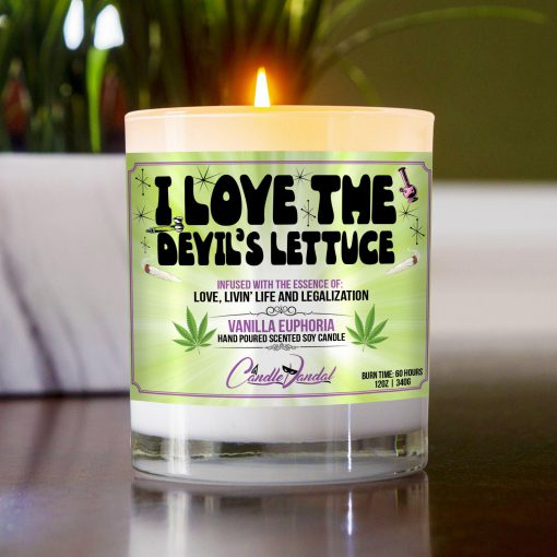 I Love The Devils Lettuce Table Candle