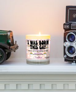 I Was Born This Gay Mantle Candle