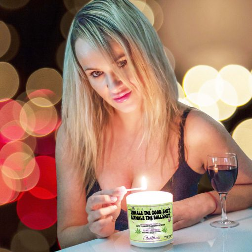 Inhale The Good Shit Exhale The Bullshit Match Lighting Candle