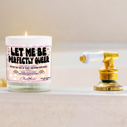 Let Me Be Perfectly Queer Bathtub Side Candle
