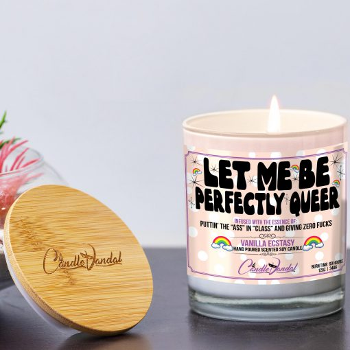 Let Me Be Perfectly Queer Lid and Candle