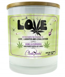 Love Marijuana Leaf Candle