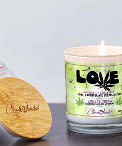 Love Marijuana Leaf Lid And Candle